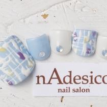 New · Off inclusive ☆ Limited FOOT! Popular Mokomoko Tweed Nail   nAdesico nail salon (Pink Nail Salon)   Last-minute booking service Popcorn