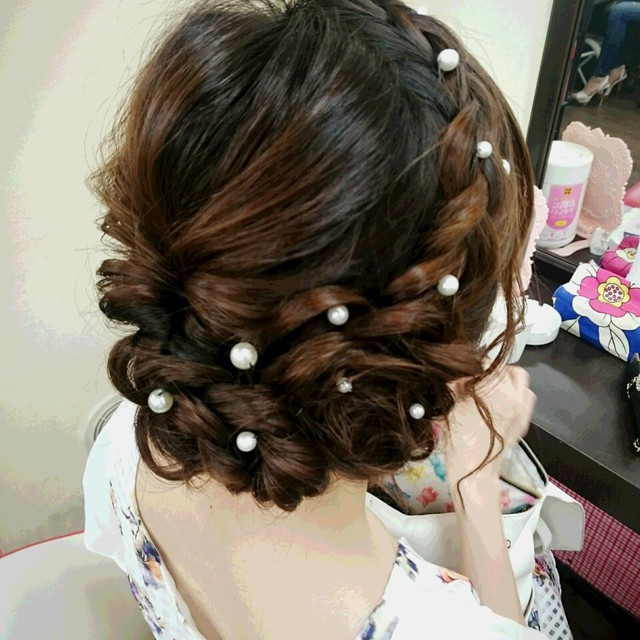"☆ ""Exquisite cute hair set ♪"" ☆ This price ♪ any number of times hair set overall! Wedding ~ live ☆ 