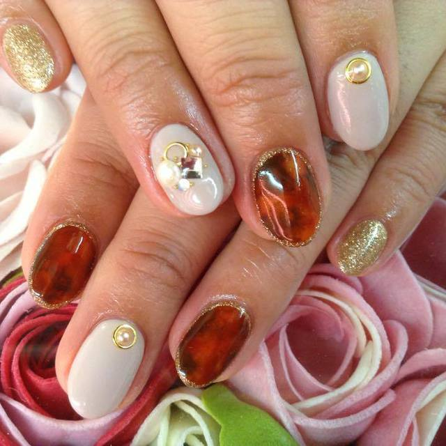 Choose from 300 colors ☆ gel Marble | nail salon LUCE (Nail Salon Luce) | Last-minute booking service Popcorn