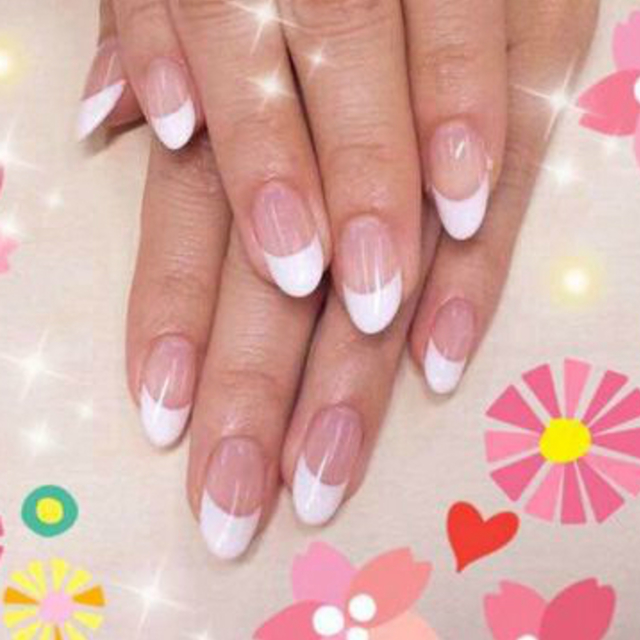 'I can no Off classic! Simple French course ◎ reverse French, diagonal French, deformation French OK! ! | Rela Nail Salon (Lira Nail Salon) | Last-minute booking service Popcorn