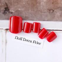[何度でも予約ok・オフなし]FOOTワンカラー | nail Deux Prier (ネイルドゥプリエ池袋店) | 当日予約・直前予約 ポップコーン