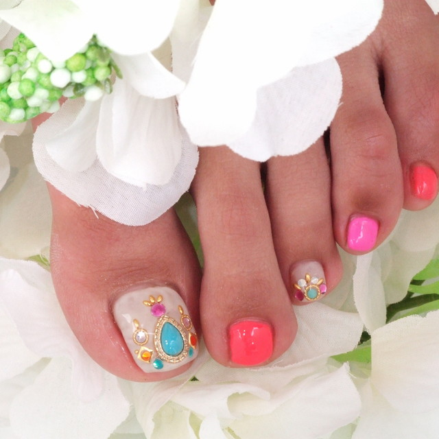 [New] off there * with a gel coat foot gel spear unlimited * design long-lasting | TRU NAIL (true nail) Shibuya | Last-minute booking service Popcorn