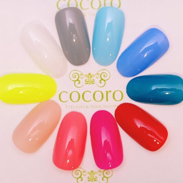 [オフ/自爪に優しい!ウォーターケア込]何色でも!カラー変更OK☆ワンカラー☆ | EYELASH&NAILSALON cocoro(ココロ)-NAIL- | 当日予約・直前予約 ポップコーン