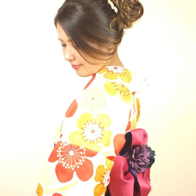 ☆レンタル着物着付け+ヘアセット  Kimono rental and dressinng and hair set着物祖賃乃着装