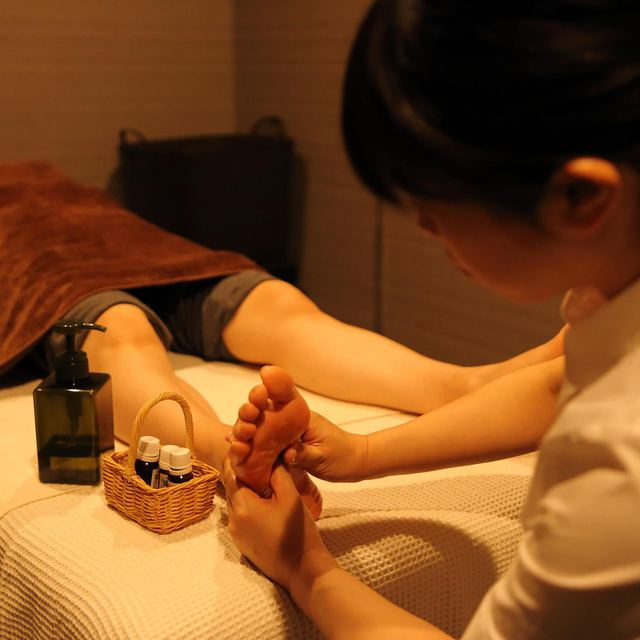 "'I Limited] aroma foot and meridian body massage 90 minutes course ""pair Reservation is ♪ from the telephone inquiry button"" 