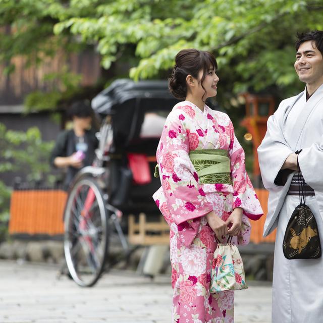 ☆着物レンタル着付け カップル割お2人で 6,480円~ Kimono rental and dressinng Couple Discount Only service forKImono rental and dressing. Hair set+1,620円