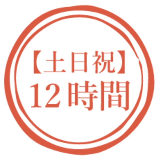 【土日祝】12時間利用(16,000円)*オプションは別途料金