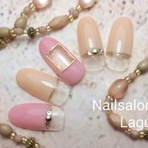 [新規・オフ込]グリッターラメライン上品ネイル | Nail&Relax Laguna (ネイル&リラックス ラグーナ)-Nail- | 当日予約・直前予約 ポップコーン