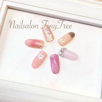 [Popcorn Limited / Everyone] Trend Flat Course ☆ Soft Gel Off Free !! | Nail Salon Tiny Tree (Tiny tree) | Last-minute booking service Popcorn