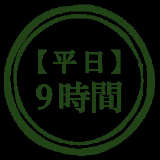【平日】9時間利用