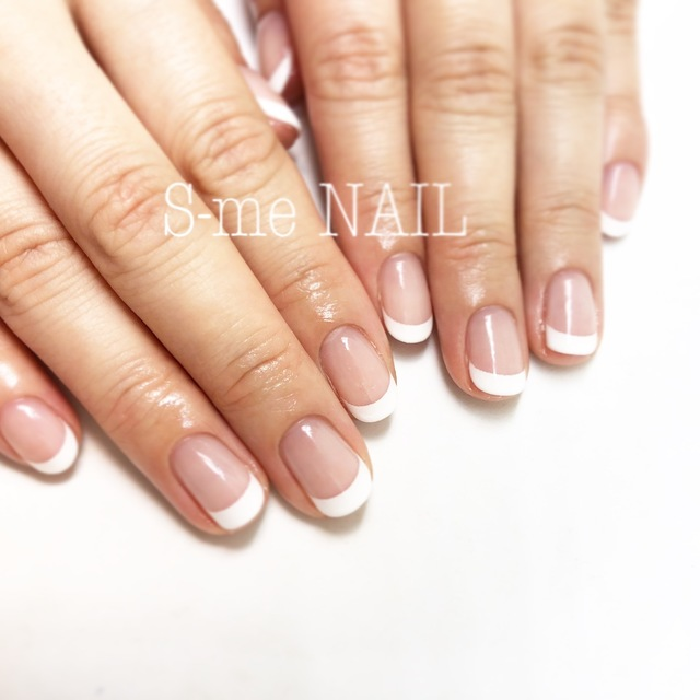 Friendly ♡ Calgel use to nail [First Press Limited off included French] | S-me NAIL (Esumineiru) Ebisu Station 1 minute | Last-minute booking service Popcorn