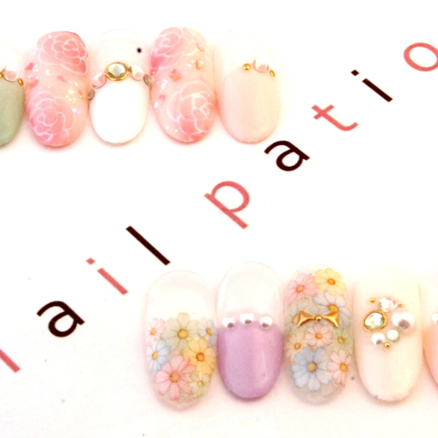 [新規・オフ込]人気の定額ネイルアート☆ストーン込み☆ | nail Patio(ネイルパティオ) 新宿店 | 当日予約・直前予約 ポップコーン