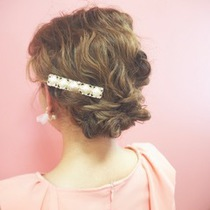 [Wedding after-party party] Hair & hair set | Shiang cyan | Last-minute booking service Popcorn