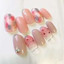 【SAKURA nail nails】 Off + Care included! | Kain (Cain) [nail] Meguro Station walk 30 seconds | Last-minute booking service Popcorn