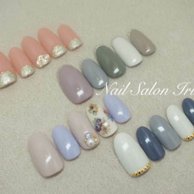 Off another] simple with Art ♪ | NAIL SALON Irie (Nail Salon Irie) | Last-minute booking service Popcorn