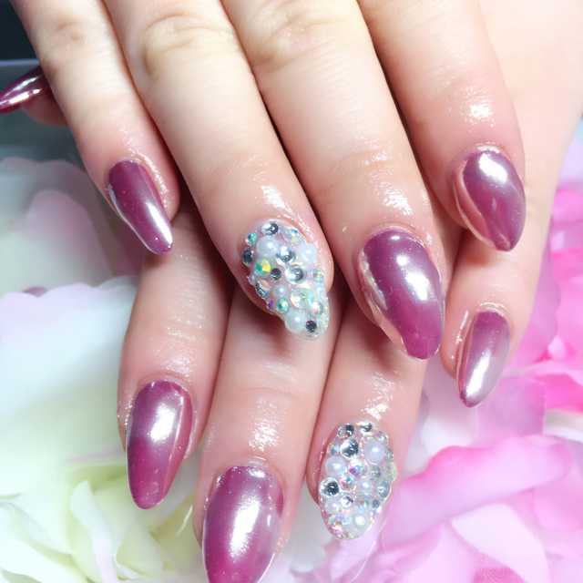 Unlimited spears Gel Art! (hand) | Clover nail | Last-minute booking service Popcorn