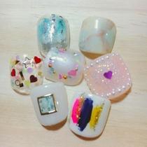 新規・オフ込み・フット☆67種類から選べる!フットデザイン | nAdesico nail salon (なでしこネイルサロン) | 当日予約・直前予約 ポップコーン