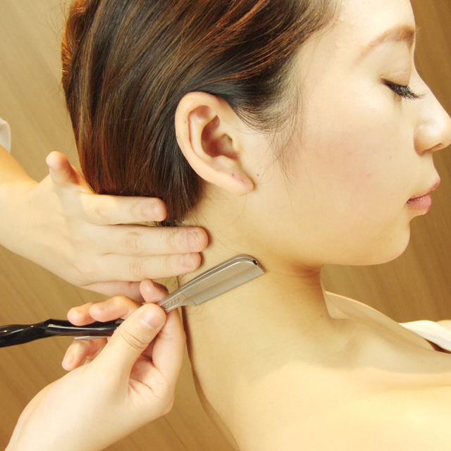 Neckline shaving * completely private room / women-only / Organic Cosmetics use * | Ginza shaving | Last-minute booking service Popcorn