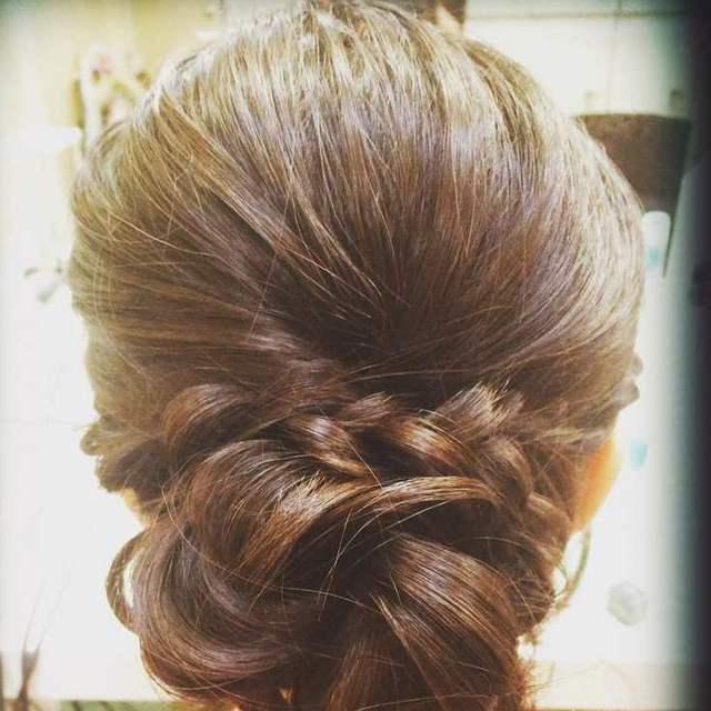 結婚式、パーティなど各種へアセット(アップ、ハーフアップ、編み込み) | Hair Salon WB(ヘアーサロンダブルビー) 白金台店 | 当日予約・直前予約 ポップコーン