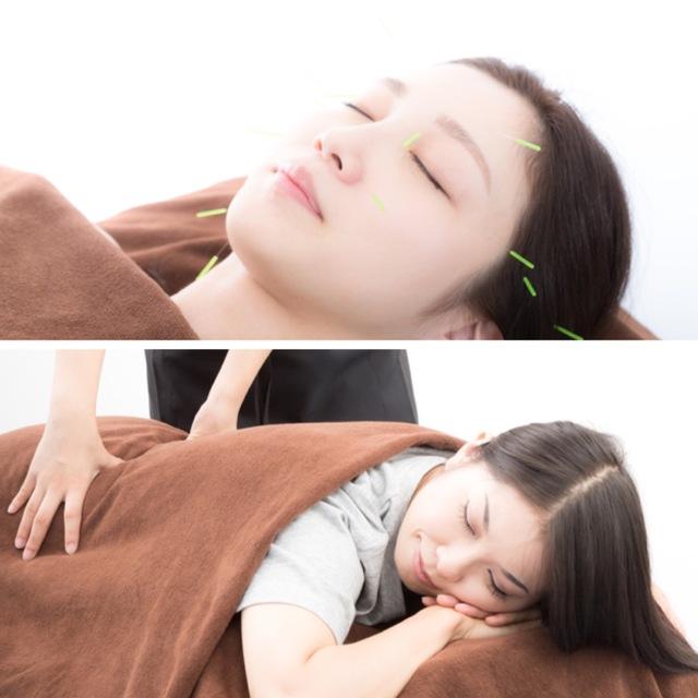 【全員】美容鍼50分+2つ選べるメニュー30分×2 | ANTS(アンツ)鍼灸整体院 | 当日予約・直前予約 ポップコーン