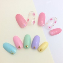 【First soft gel off included】 Hand flat rate design nail ♡ 5800 yen | About 80 types can be selected | TK nail palette Tiken nail palette | Open until 22 o'clock | Last-minute booking service Popcorn