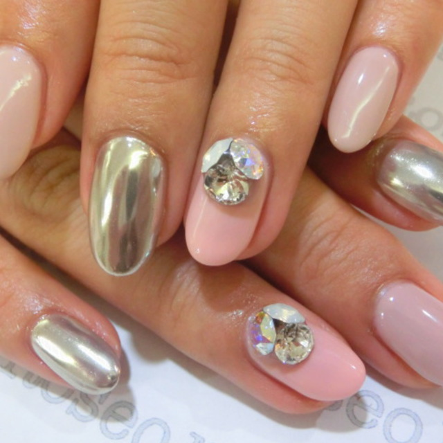 <Off inclusion> Popular mirror nail ☆ | ■ Shibuya Station 2 minutes ■ Nail salon Roseo (Roseo) | Last-minute booking service Popcorn