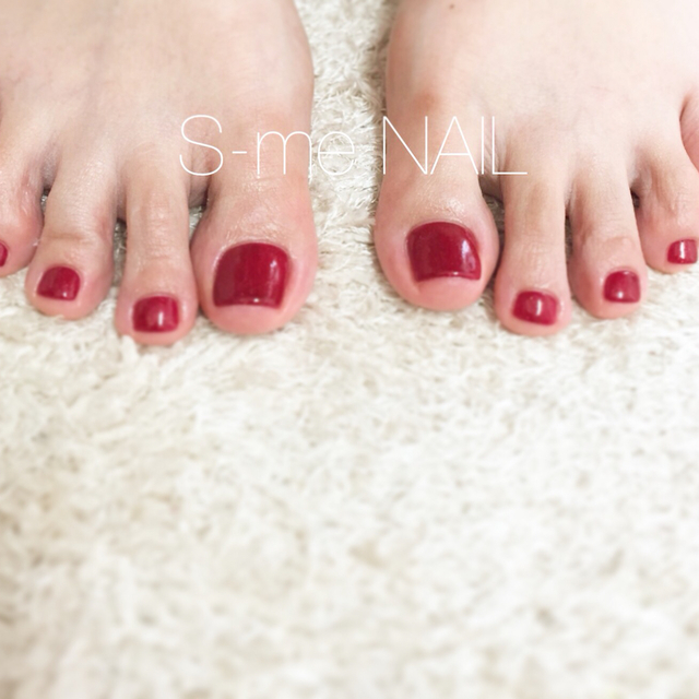 【Initial】 Off-Foot One Color | S-me NAIL (Esumineiru) Ebisu Station 1 minute | Last-minute booking service Popcorn