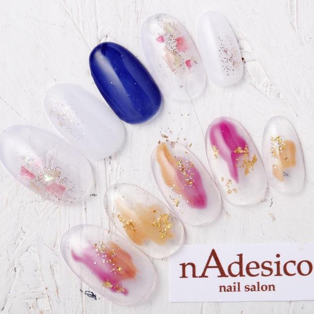 新規・オフ込み☆限定!人気のシェル塗りかけアート!! | nAdesico nail salon (なでしこネイルサロン) | 当日予約・直前予約 ポップコーン