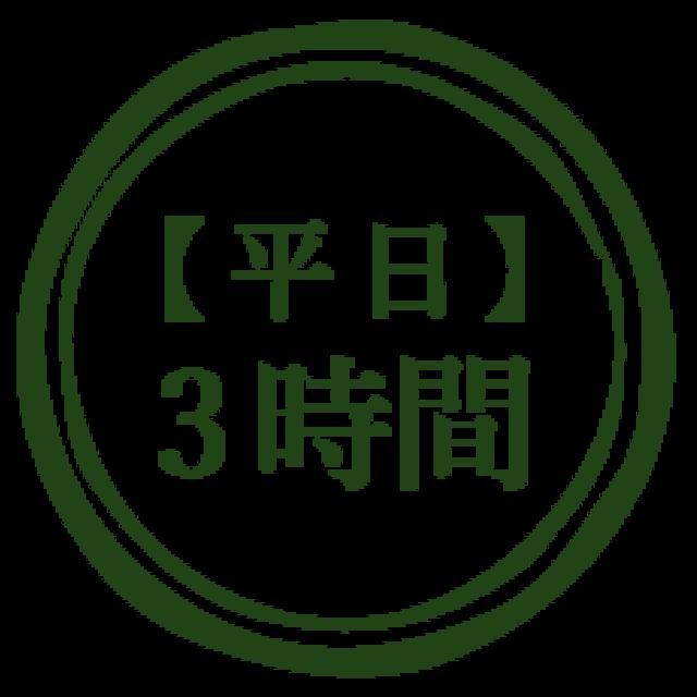 【平日】3時間利用