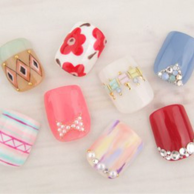 [No first-off foot bath care included] thumb Art course ♪ to choose foot gel nails | Lucieo (Rusheo) Nail | Last-minute booking service Popcorn