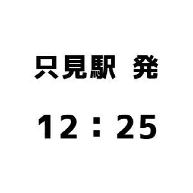 只見駅発12:25