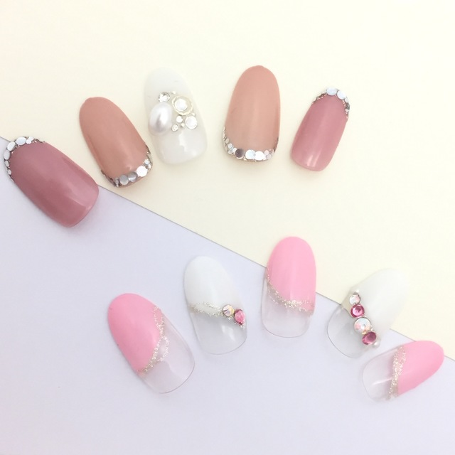 [Off] Mu hand straight-line design nail ♡ 7800 yen | selectable from about 80 different | TK nail palette Tiken nail palette | Open until 22 o'clock | Last-minute booking service Popcorn
