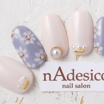 New · Off inclusive ☆ NEW Spring popular flower art ♪   nAdesico nail salon (Pink Nail Salon)   Last-minute booking service Popcorn