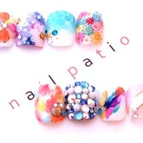 FOOT★ワンカラー+親指2本アート | nail Patio(ネイルパティオ) 新宿店 | 当日予約・直前予約 ポップコーン