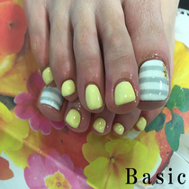 [There foot gel ★ thumb two off with Art] + [foot fingertips hair loss one year and six times] | Nail Salon Basic (Basic) Machida | Last-minute booking service Popcorn