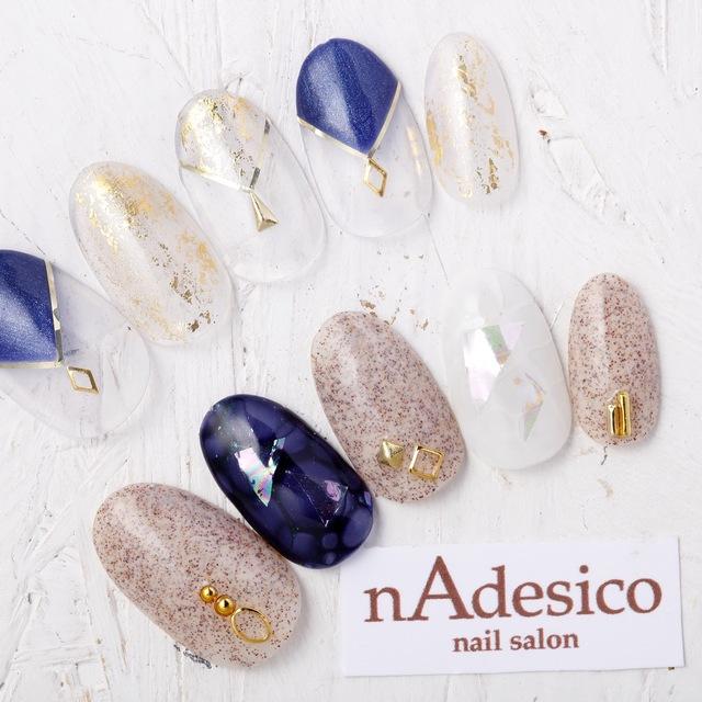 新規・オフ込み☆新作!秋のトレンドアート! | nAdesico nail salon (なでしこネイルサロン) | 当日予約・直前予約 ポップコーン