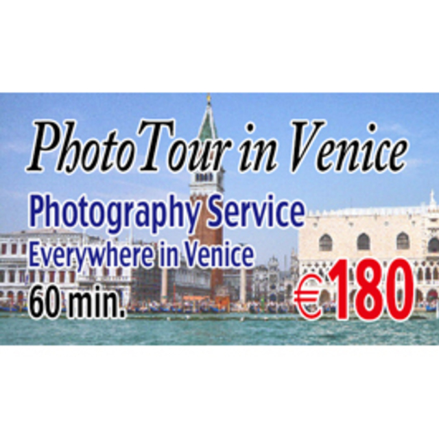 Photo Shooting Everywhere in Venice 120 min