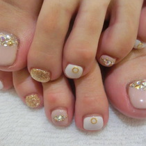 <Off No> Foot ★ One Color or Lame ☆ 2 colors can be selected | ■ Shibuya Station 2 minutes ■ Nail salon Roseo (Roseo) | Last-minute booking service Popcorn