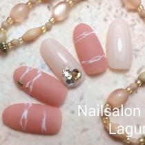 [新規・オフ込]マットコート×ビジュー♡ゴージャスネイル | Nail&Relax Laguna (ネイル&リラックス ラグーナ)-Nail- | 当日予約・直前予約 ポップコーン