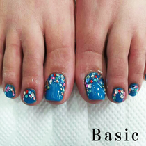 [Foot Gel two without off with Art thumb ★] + [foot fingertips hair loss one year and six times] | Nail Salon Basic (Basic) Machida | Last-minute booking service Popcorn