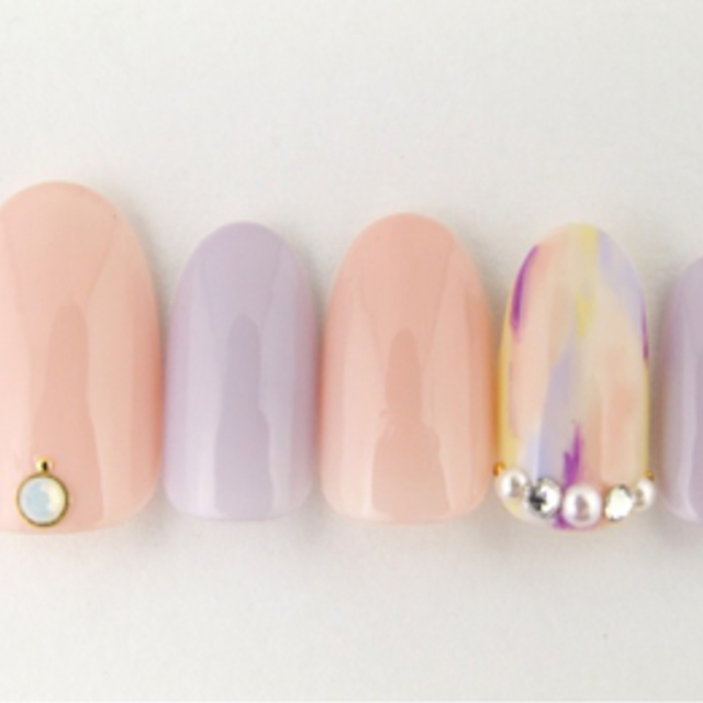[Limited soft gel off included] design gel nail 6,000 yen course | Lucieo (Rusheo) Nail | Last-minute booking service Popcorn