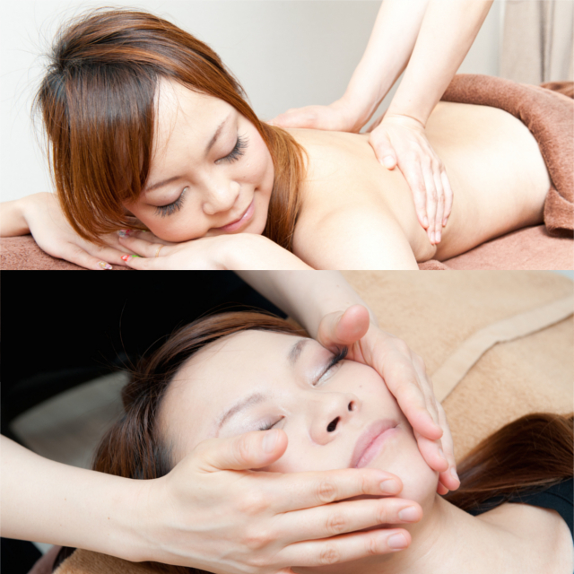 [First ★ popular Systemic aroma treatment 70 minutes + Choice (small face or Mesei head or gut Therapy 20 minutes) [a total of 90 minutes] | Linn Ebisu -natural healing salon- | Last-minute booking service Popcorn