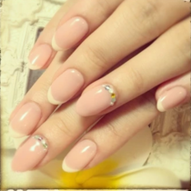 [Reincarnation / No Off classic clean ♪ French nail | merry (Merry) | Last-minute booking service Popcorn
