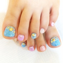 Technical boasting ★ 45% off! Foot design course to choose from about 50 types ★ ¥ 6980! Off included ★ | Aina Nail | Last-minute booking service Popcorn