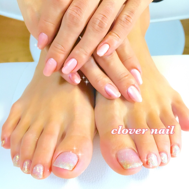 Foot ☆ One color | Clover nail | Last-minute booking service Popcorn