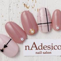 新規・オフ込み☆人気の上品デザイン♪ | nAdesico nail salon (なでしこネイルサロン) | 当日予約・直前予約 ポップコーン