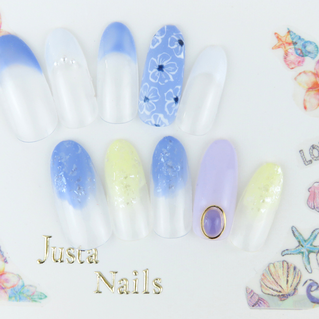 Straight-line design courses to choose from the New-off write] 400 species (with hand care) | JUSTANAILS (Ja Star Nails) | Last-minute booking service Popcorn