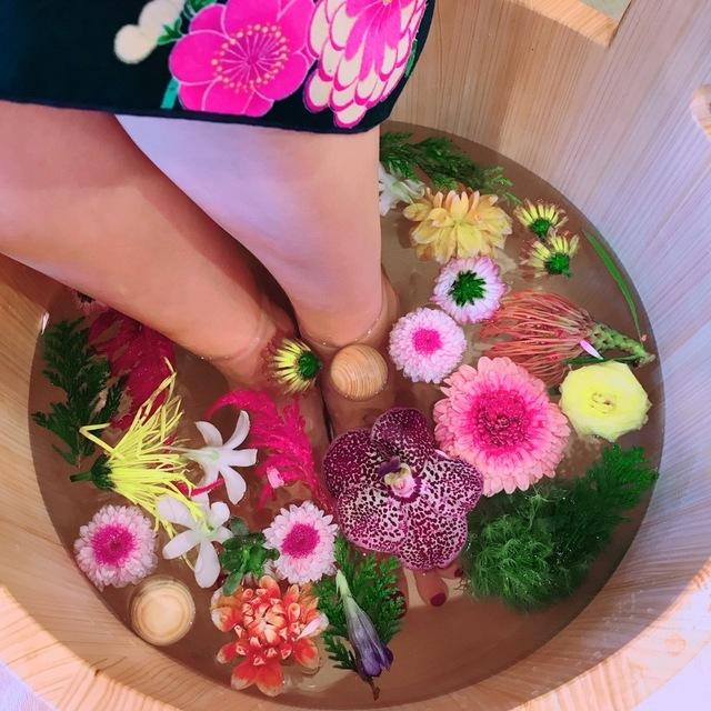 ●1名様  -雅- フォトジェニックなお花の足湯  30分コース