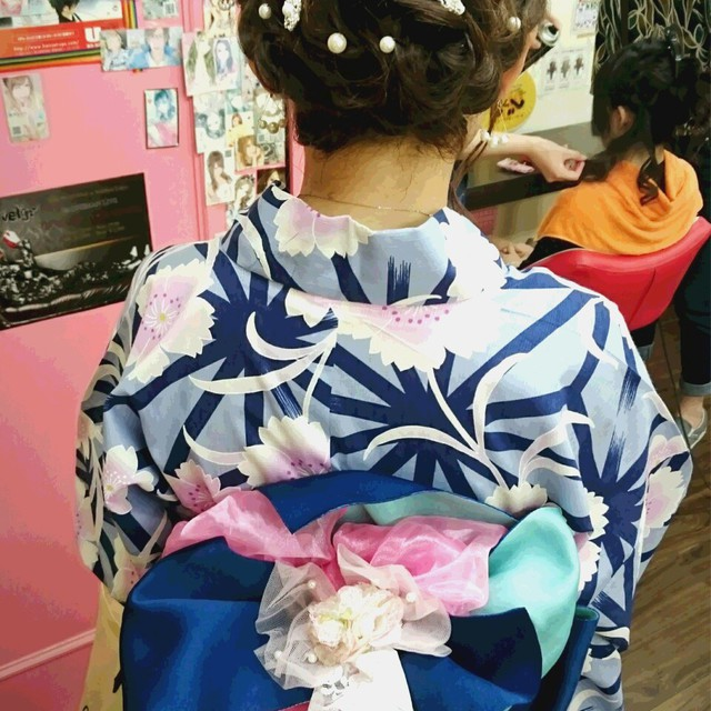 "☆ Large popularity ""Yukata dressing + hair set"" ★ enrolled in dressing specialist ♪ 