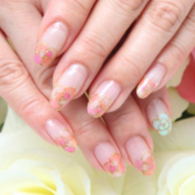 None Off lame gradation one color | Nail Salon Princess Road | Last-minute booking service Popcorn